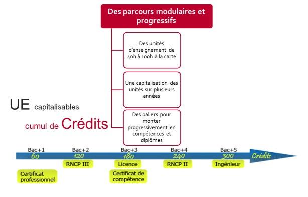 Schéma UE parcours modulaire